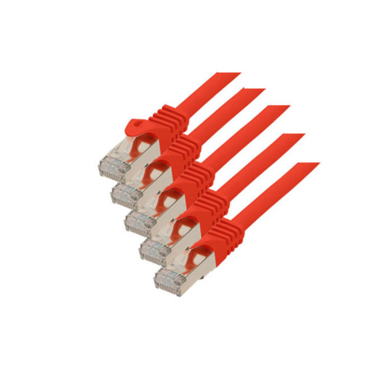 RJ45 Patchkabel m. CAT 7 Rohkabel  PIMF rot 0,5m