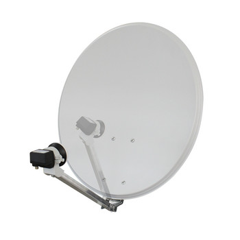 Sat Antenne Click-Clack STAHL 55cm hell