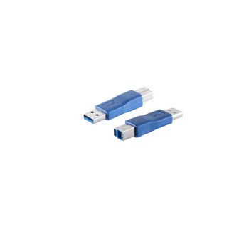 USB Adapter 3.0 A Stecker / B Stecker, blau
