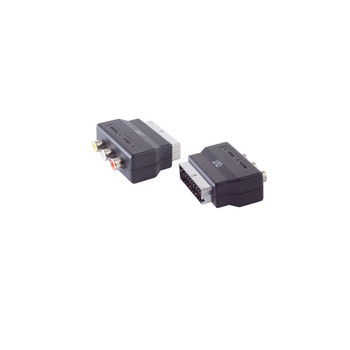 Scart-Adapter mit 3 Cinchkupplungen, OUT
